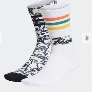 Adidas x Fiorucci Two Pairs Socks